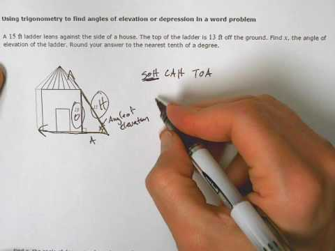 Using Trig To Find Angles Of Elevation Or Depression In A Word - Find your elevation