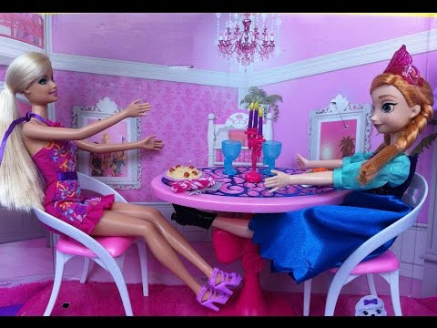 Barbie Glam Dining Room Set With Anna From Frozen