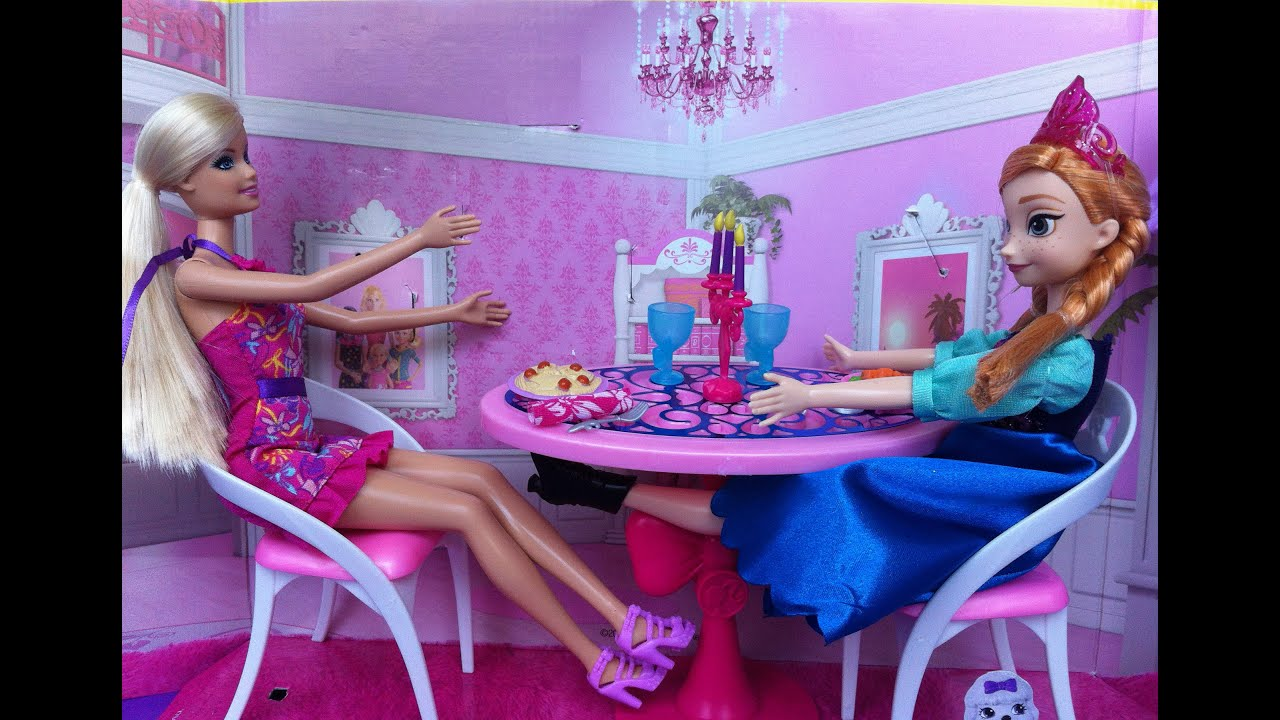 Barbie Glam Dining Room Set with Anna from Frozen YouTube : maxresdefault from www.youtube.com size 2592 x 1800 jpeg 963kB