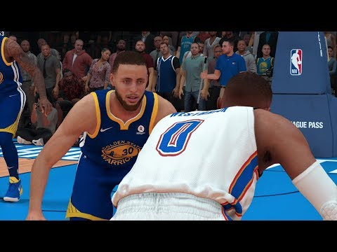 NBA 2K19 Golden State Warriors vs Oklahoma City Thunder Full Game (NBA 2K19 PS4 Pro Gameplay)