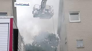Zonnepanelen in brand op woning Langedaal Dordrecht