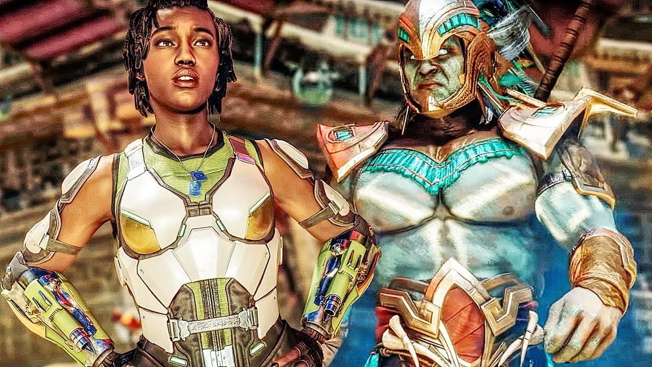 MORTAL KOMBAT 11 Gameplay Kotal Kahn vs Jacqui Briggs + video