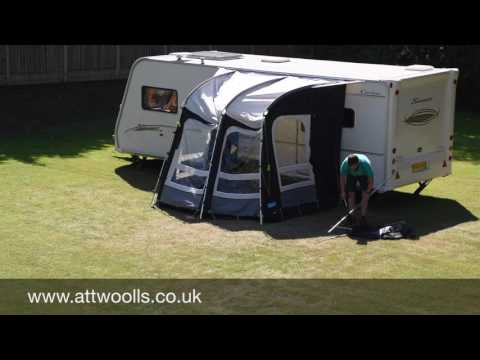Kampa Rally Pro Awning Pitching & Packing Video (Real Time)