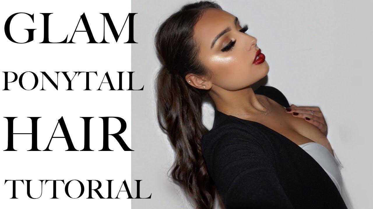 glam ponytail hair tutorial foxylocks