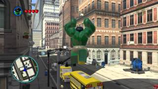 LEGO Marvel Super Heroes The Video Game - Hulk free roam(Gameplay of everything Hulk can do in the open world. My Twitter: https://twitter.com/GameUnboxing., 2013-11-13T18:25:24.000Z)
