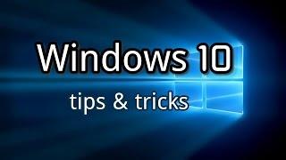 Windows 10 - 12 amazing tricks