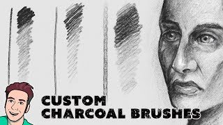 Drawing a Face with Digital Charcoal (February 2019 Brushes)
