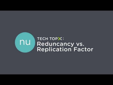 Tech TopX: Redundancy Factor vs. Replication Factor