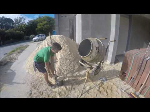 Mixing A Batch Of Sand And Cement
