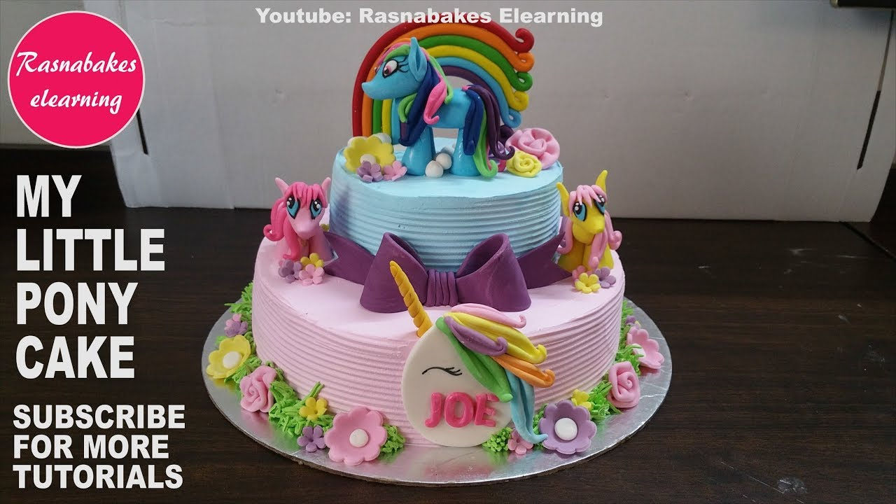 My Little Pony Birthday Cakemlp Friendship Is Magic Toys Fondant Figures Decorating