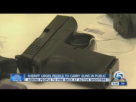 Sheriff urges people to carry guns in public