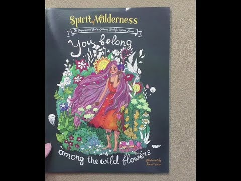 Spirit of Wilderness – An Inspirational Quotes Coloring Book flip through