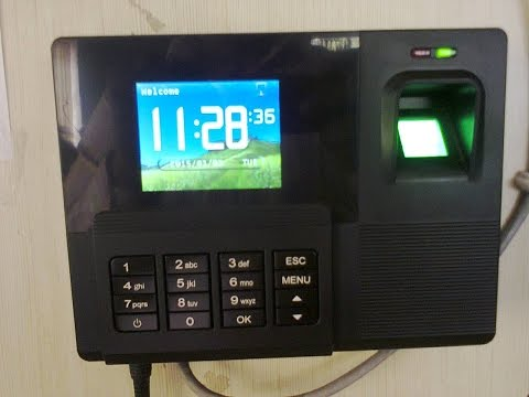 Biometric Fingerprint Time Attendance System Operation Manual