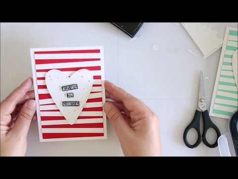 Tutorial, Geburtstagskarte aus Farbkartonresten mit dem Stempelset Jahr voller Grüsse Stampin' Up!