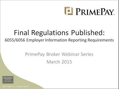 Final Regulations Published on Employer Information Reporting Requirements