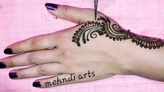 Amazing Jewellery Arabic Mehndi design For Back Hands #Arabic mehndi design
