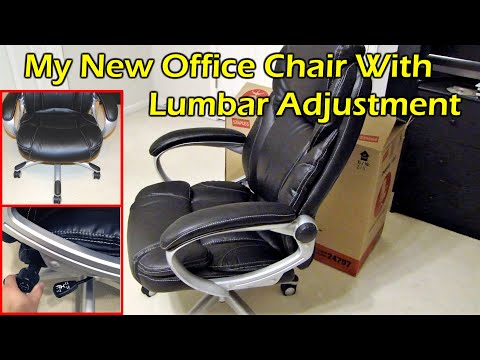 New Office Chair – Staples Coopersly Leather Managers Chair
