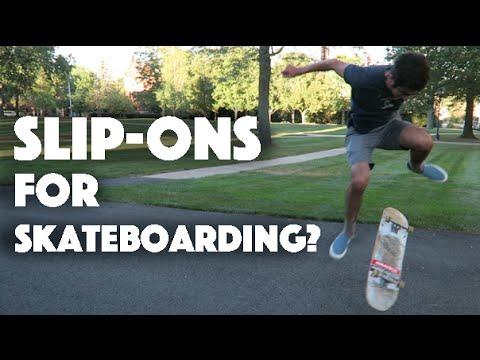 vans slip on skateboard