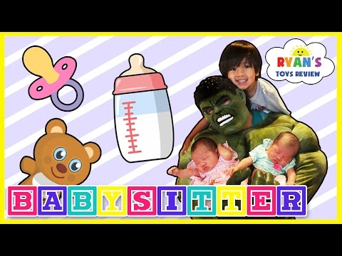 The Hulk Babysitting Superhero IRL Fail Babysit Newborn Twin Babies Funny Parody Ryan In Real Life