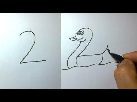 1'den 10'a Kadar Sayılarla Hayvan Çizin. ÇOK BASİT !!