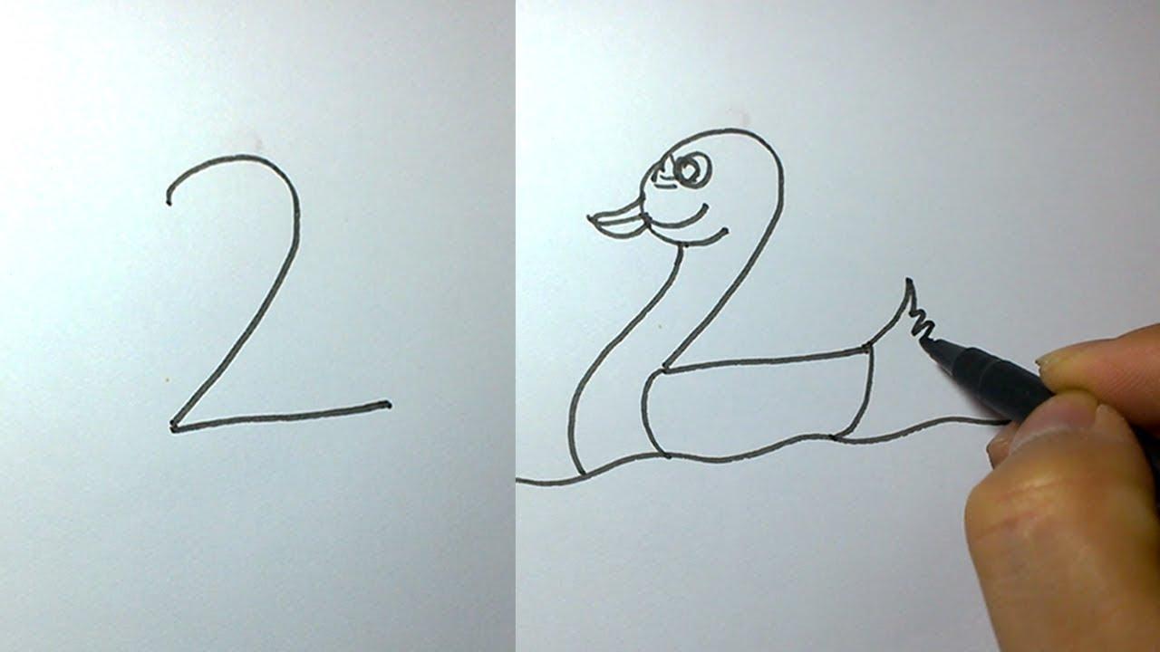 1den 10a Kadar Sayılarla Hayvan çizin çok Basit