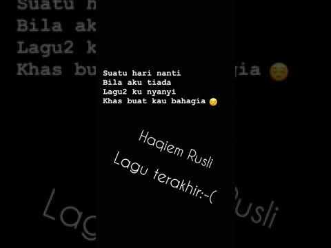 Lagu Terakhir-Haqiem Rusli