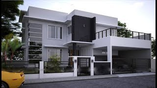 Small Modern House 1300 Sft for 13 lakh | Elevation | Design | Interior