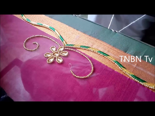 simple maggam work blouse designs   zardosi work blouse designs   aari work blouse designs