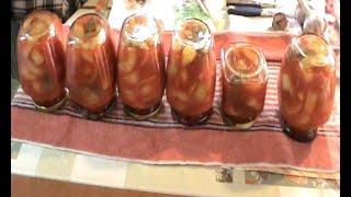 Перец в томатном соке. Салат