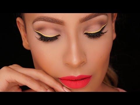 Yellow Graphic Liner - Barbie Makeup Look l Desi Perkins