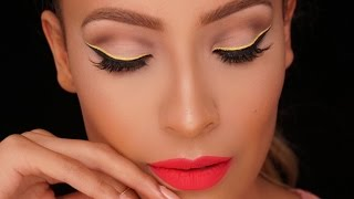 Yellow Graphic Liner - Barbie Makeup Look l Desi Perkins