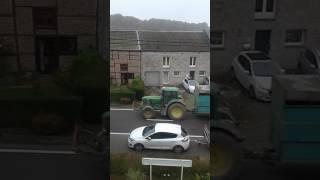 Passage de tracteur avec bétaillère