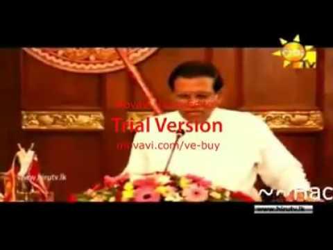 Maithripala sirisena's funny speech