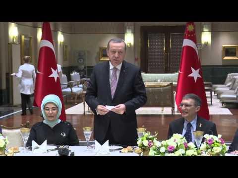 Nobel Prize Winner Aziz Sancar attends a dinner at Presidential palace