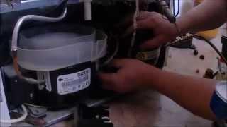 Ремонт холодильника, замена компрессора холодильника / Refrigerator repair(, 2015-03-06T21:41:55.000Z)