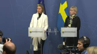 Joint press conference Stockholm