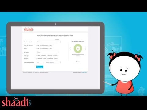 How to create a Shaadi com profile?