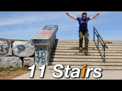 Inline Skating Down Stairs Tutorial - By Bill Stoppard