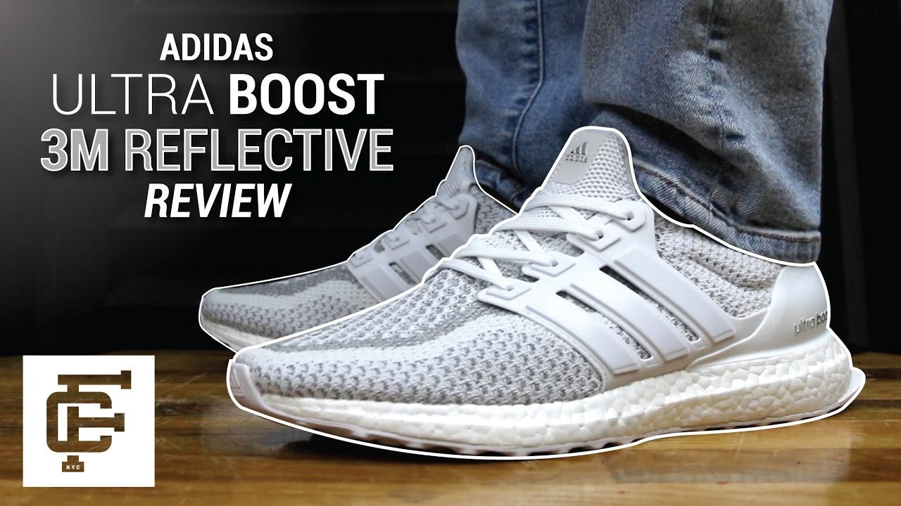 affa38386 ADIDAS ULTRA BOOST LTD 3M WHITE REFLECTIVE REVIEW - YouTube