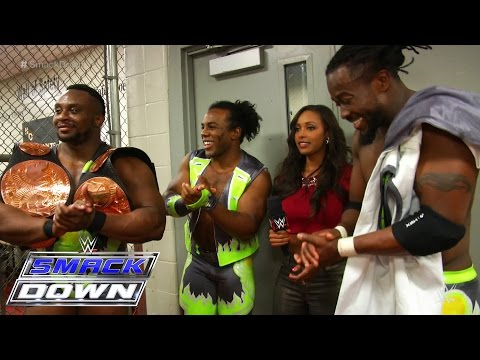 The New Day revels as they hold onto the WWE Tag Team Titles: SmackDown Fallout, April 30, 2015