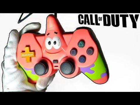 PATRICK STAR CONTROLLER UNBOXING Playstation 2 SpongeBob SquarePants Gamepad Call of Duty Gameplay