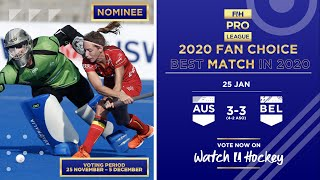 Australia v Belgium | Match 3 | Women's FIH Hockey Pro League Highlights