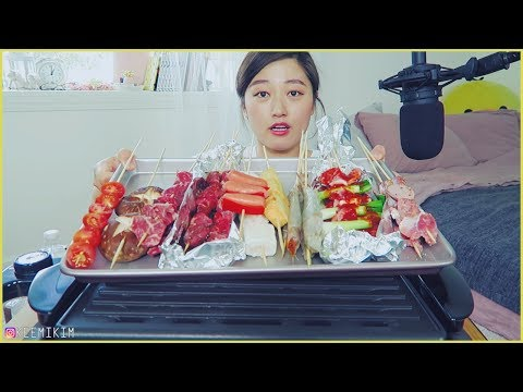 2. When you crave SKEWERS GRILL....Beef, pork, fish cakes, vegetables etc Mukbang