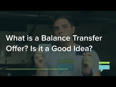 What Is Balance Transfer Is It Good Idea