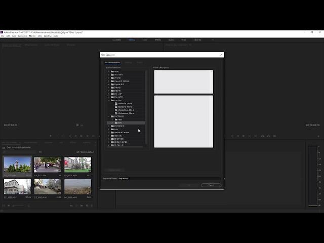 Premiere Pro Eğitimi 03 - Proje Dosyalarını Organize etmek Zaman sekansı oluşturmak
