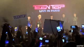 [HD fancam] 130209 Teen Top - introductions ment @ Trianon, Paris