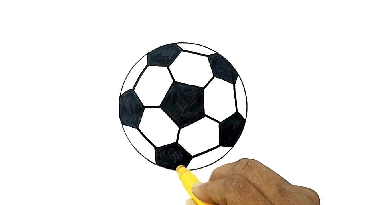 How to Draw a Soccer Ball (Football) - YouTube