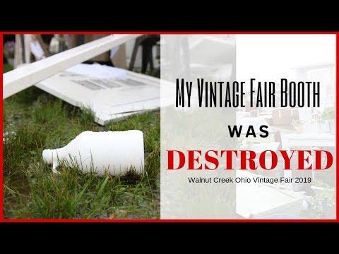 Booth Destruction ~ Vintage Fair 2019 ~ Wind Destruction