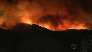 Monster fire forces hundreds from homes in California