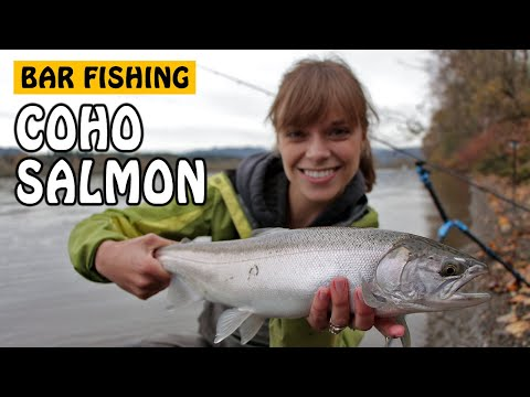 FRASER RIVER BAR FISHING FOR COHO SALMON | Fishing With Rod